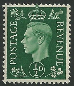 SG462 ½d Green Unmounted Mint (George VI 1937 Definitive Stamps)